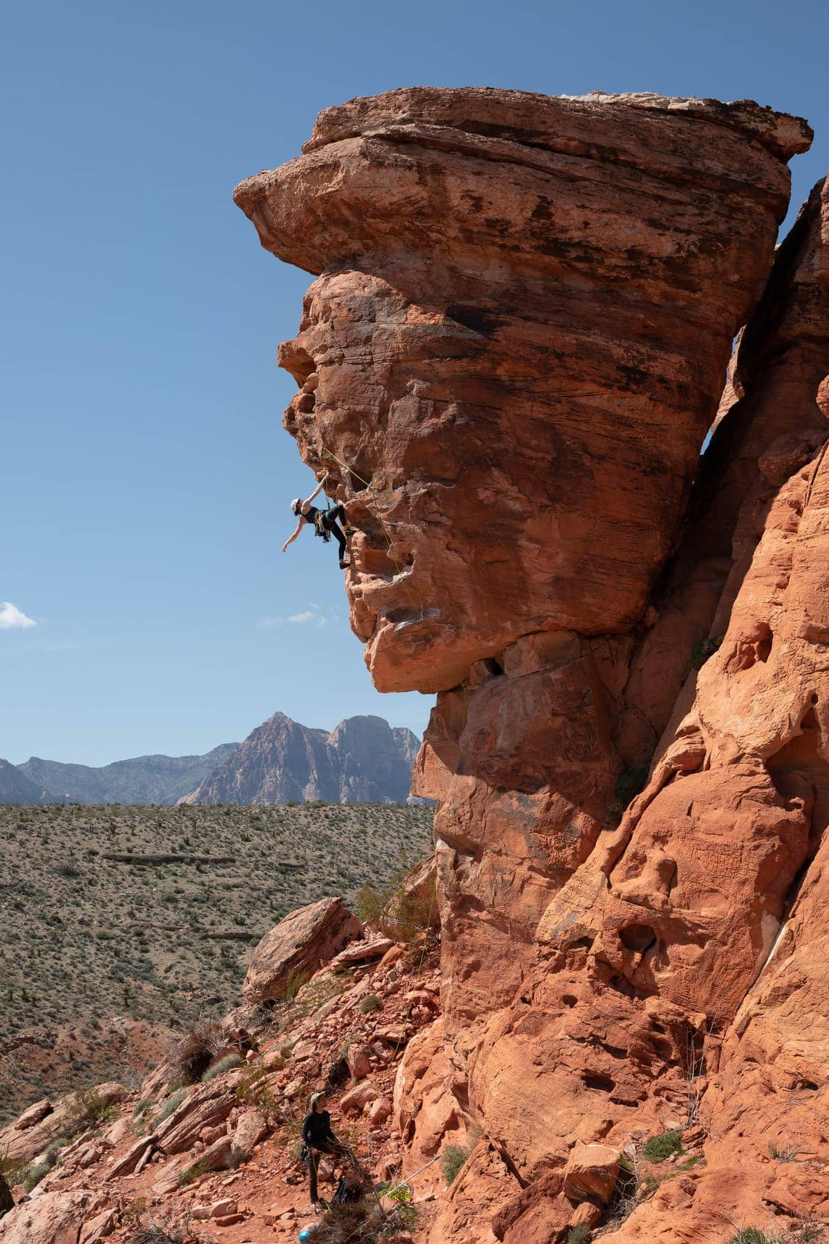 Red Rock Canyon sport climbing