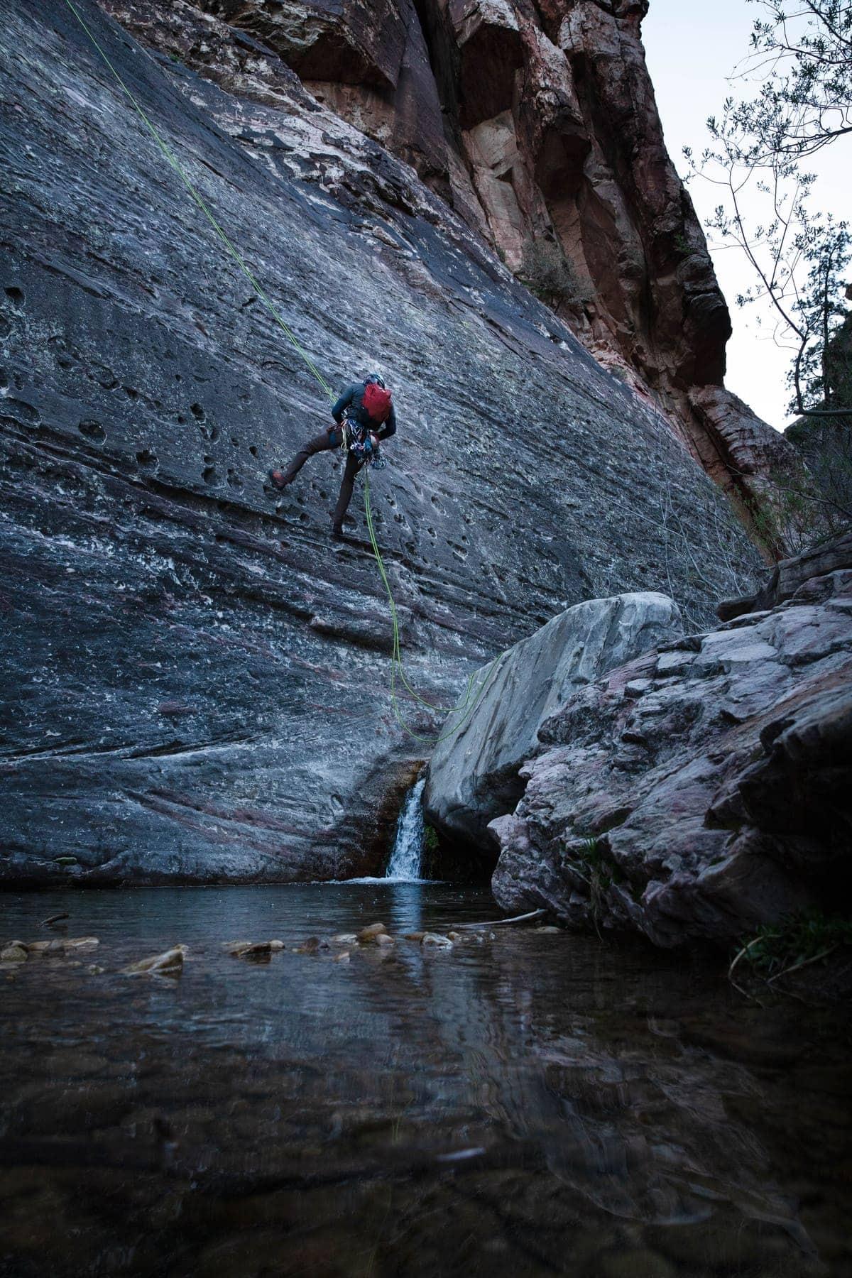 Dark Shadows Rock Climb Red Rock Canyon National Park