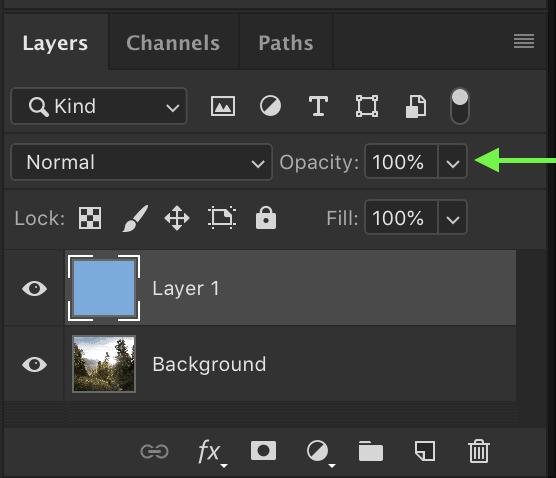 photoshop shortcuts layer opacity