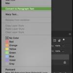 photoshop text tool paragraph text