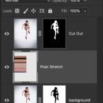 how to make the pixel stretch effect