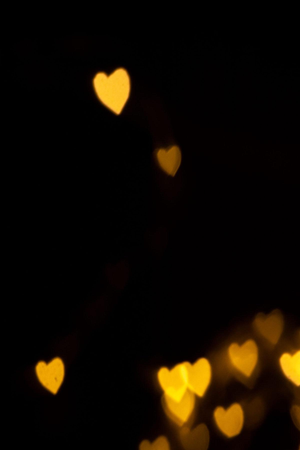heart shaped bokeh photography