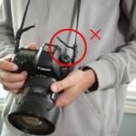 bad way of tying camera strap