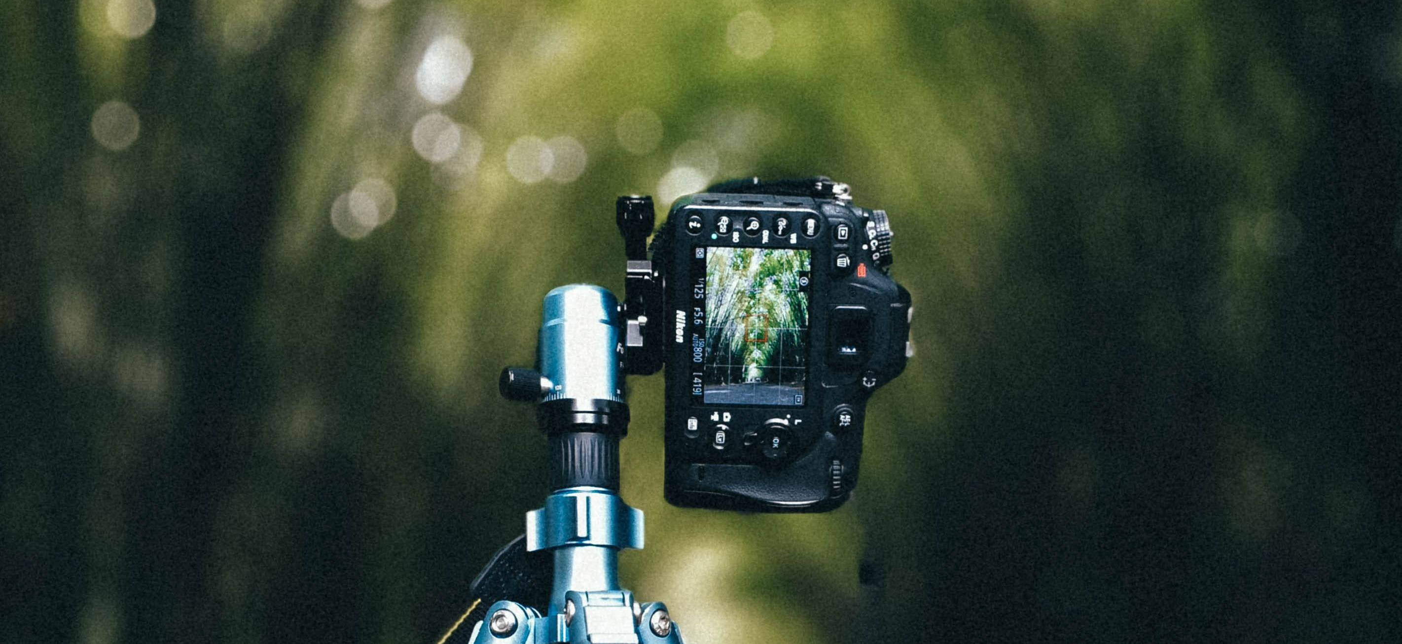 camera on tripod for long exposure photograph