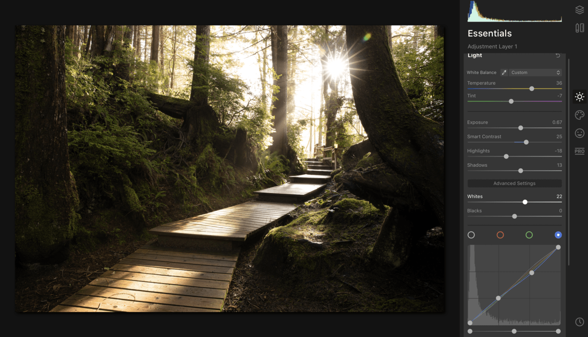 Luminar-4-workspace-layout