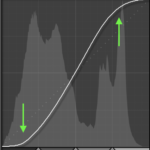 s curve on tone curve to add contrast