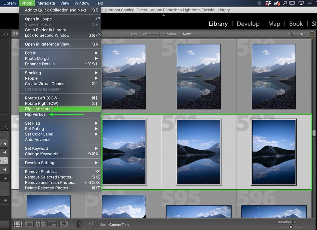 flip-multiple-photos-in-lightroom