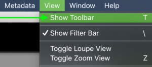 how-to-show-toolbar-in-lightroom