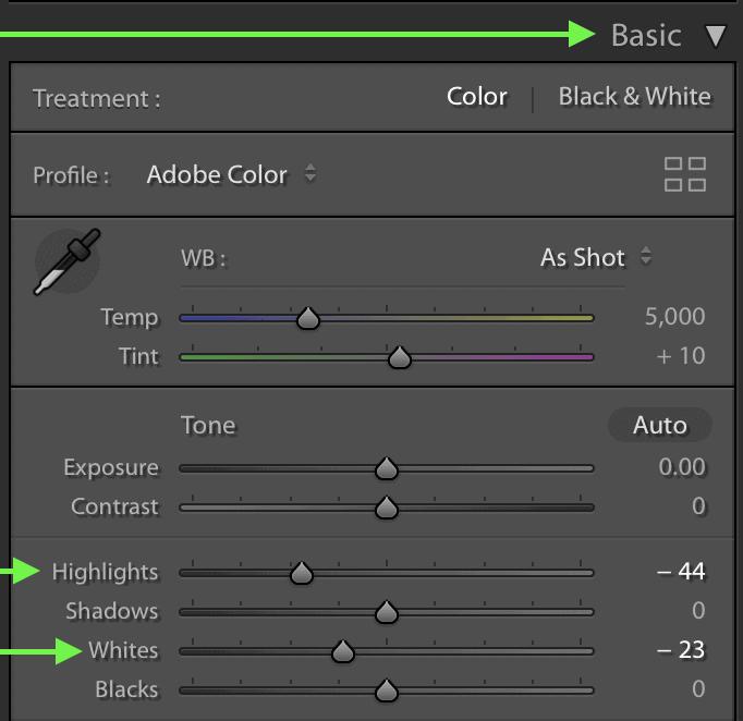 whites-sliders-for-exposure-adjustments