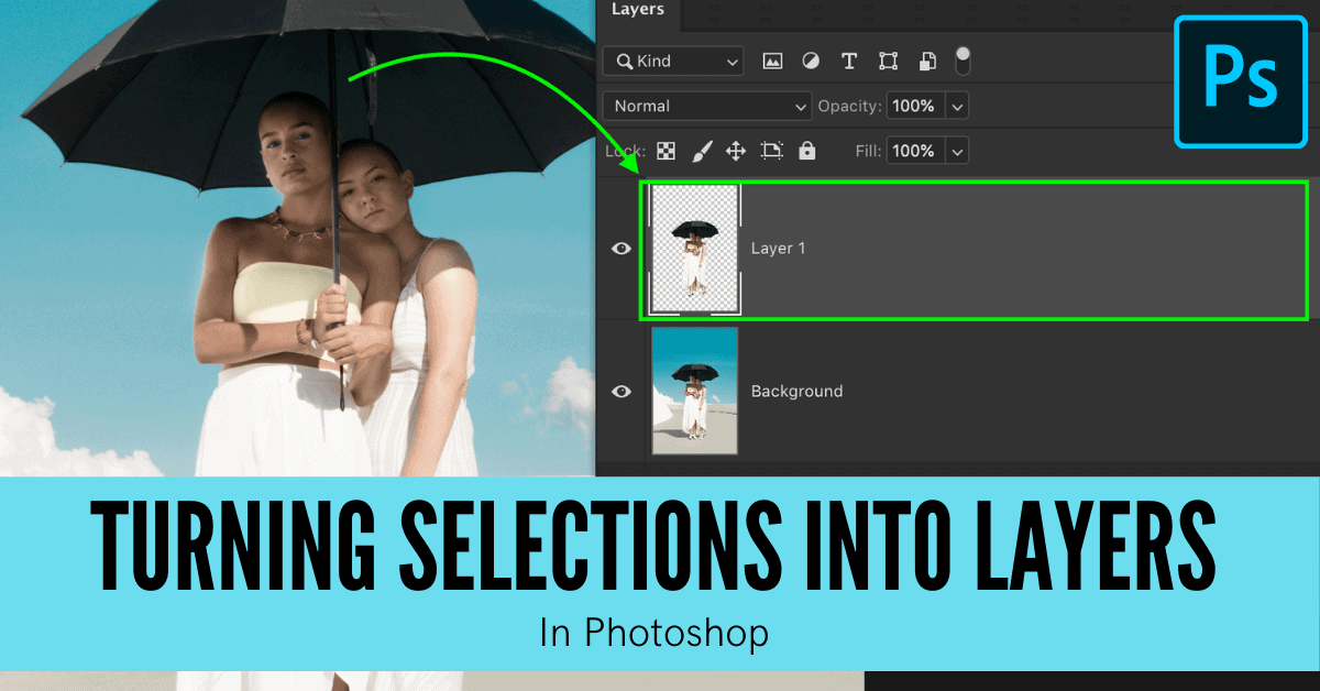 How To Make A New Layer From A Selection In Photoshop