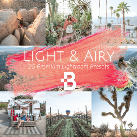 light and airy lightroom preset collection product image