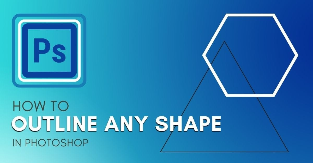 How To Outline ANY Shape In Photoshop